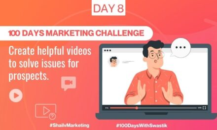 Create helpful videos to solve issues for prospects – 100 Days Marketing Challenge