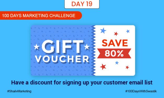 Gift Voucher – 100 Days Marketing Challenge