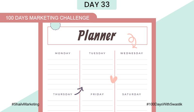 Planner – 100 Days Marketing Challenge