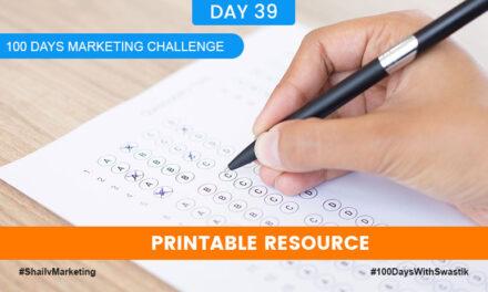 Printable Resource – 100 Days Marketing Challenge