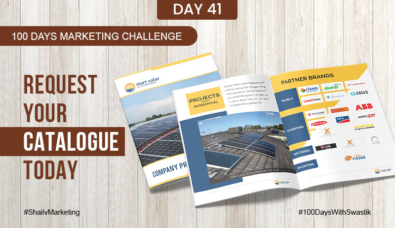 Request your catalogue today- 100 Days Marketing Challenge