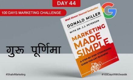 Guru Purnima – 100 Days Marketing Challenge