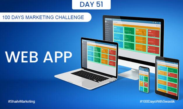 Web App – 100 Days Marketing Challenge
