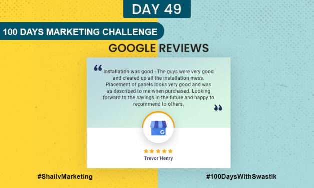 Google Review – 100 Days Marketing Challenge