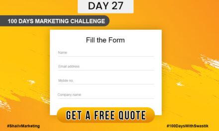 Get a quote – 100 Days Marketing Challenge