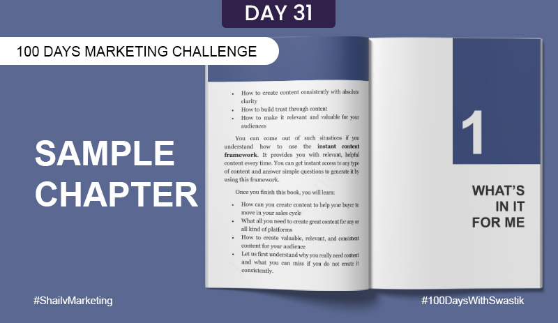 Sample chapter – 100 Days Marketing Challenge