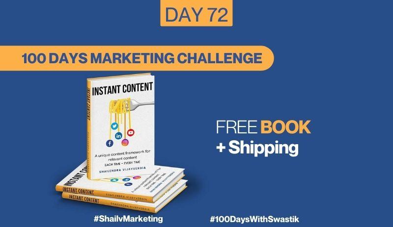 Free Book Plus Shipping – 100 Days Marketing Challenge
