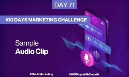 Sample Audio Clip – 100 Days Marketing Challenge