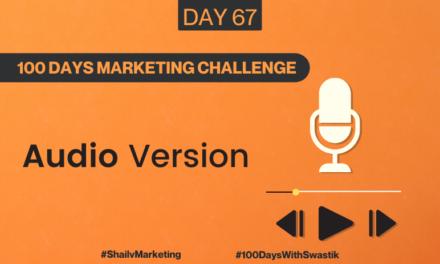 Audio – 100 Days Marketing Challenge