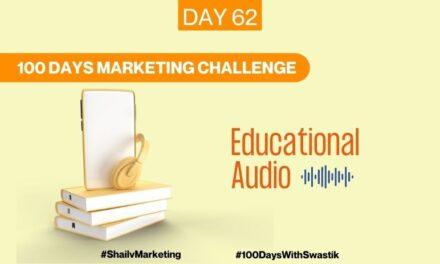 Educational Audio – 100 Days Marketing Challenge