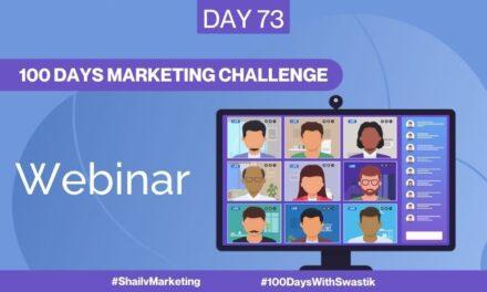 Webinar – 100 Days Marketing Challenge