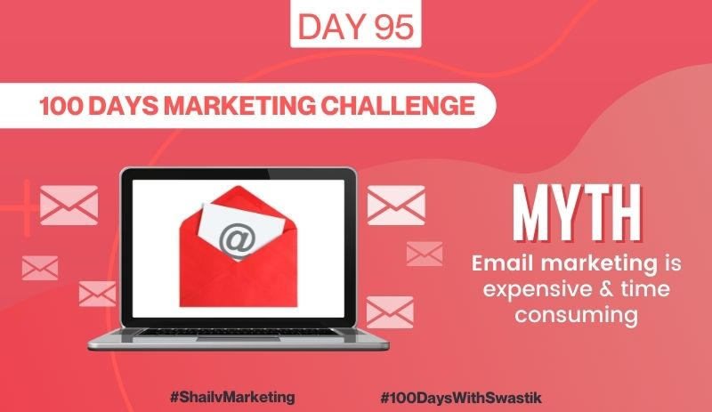 Myth Email Marketing is Expensive & Time Consuming – 100 Days Marketing Challenge