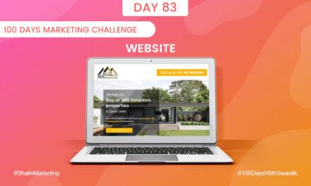 Website – 100 Days Marketing Challenge