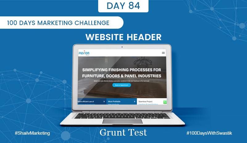 Website Header – 100 Days Marketing Challenge