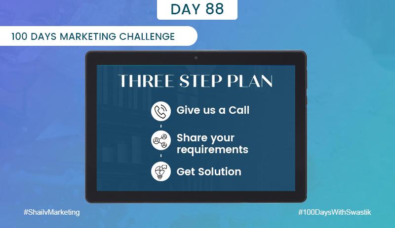 Three Step Plan – 100 Days Marketing Challenge