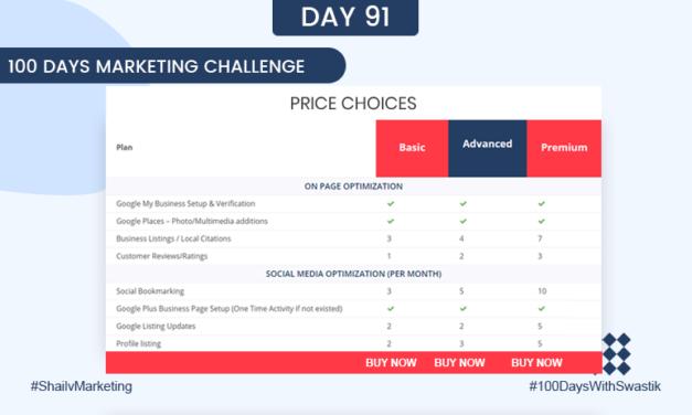 Price Choices – 100 Days Marketing Challenge