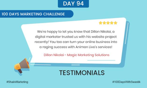 Testimonials – 100 Days Marketing Challenge